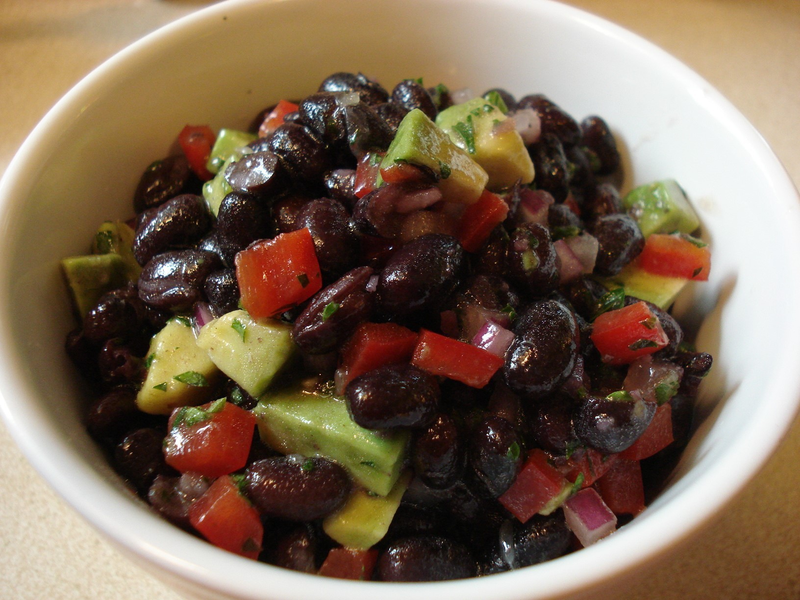 Black Bean Salad with Lime Vinaigrette