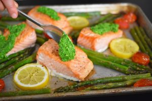 Sheet pan salmon from Nom Nom Paleo