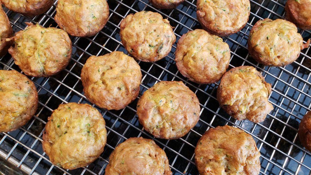 carrot zucchini mini muffins