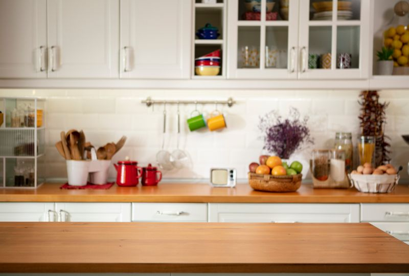 clean kitchen counters ready to cook