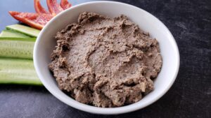 bowl of liver and mushroom pate, made by a certified wahls health practitioner