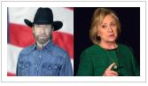 Chuck Norris and Hillary Clinton July 29, 2015