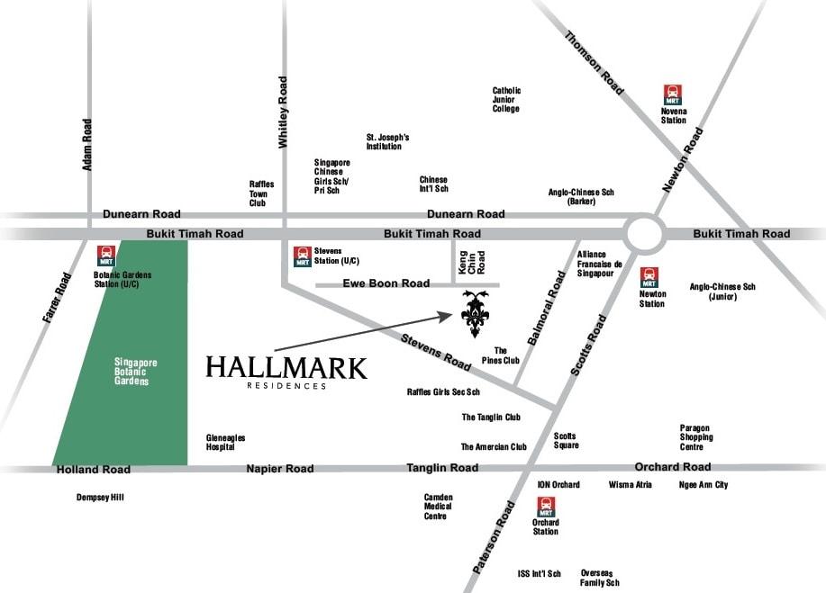 Hallmark Residences location