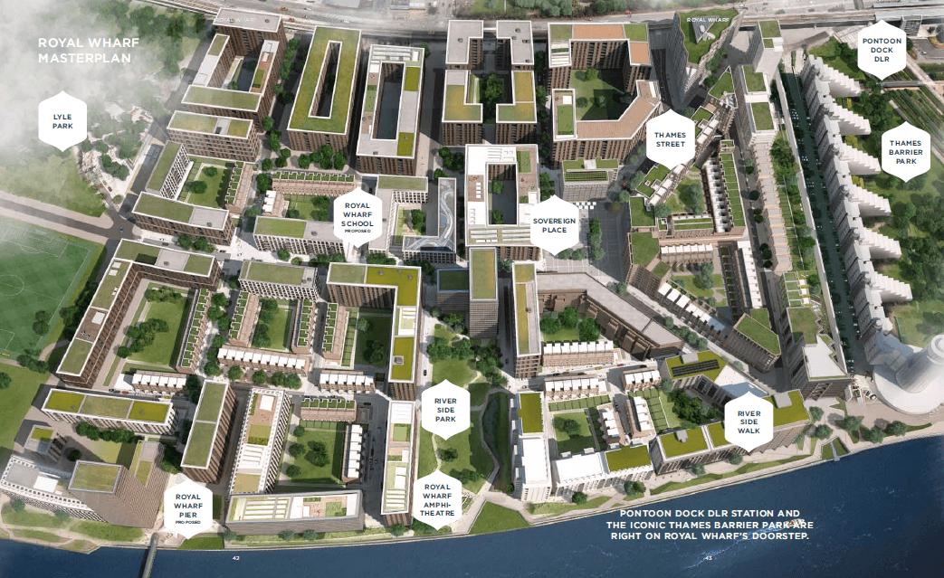 Royal wharf master plan