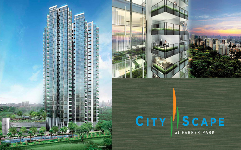 Cityscape facade
