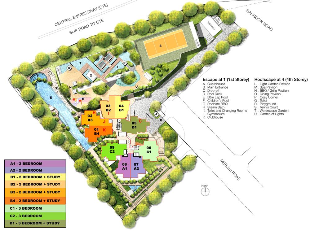 Cityscape siteplan