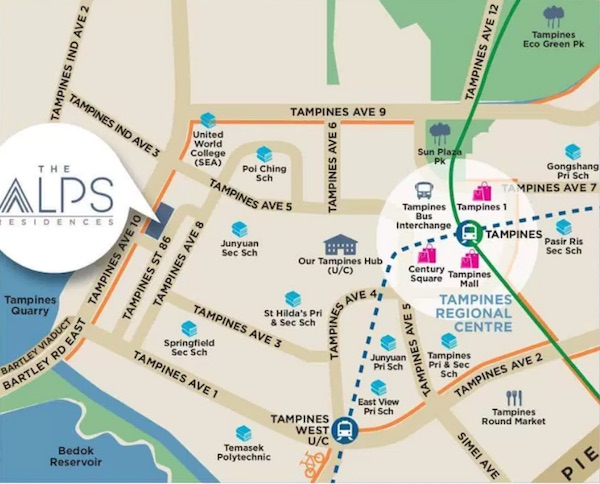 Alps Residences Location