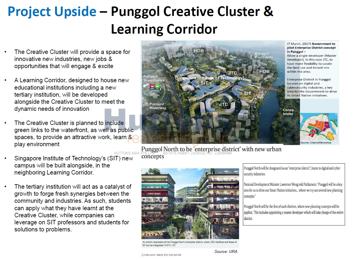 punggol creative cluster and learning corridor