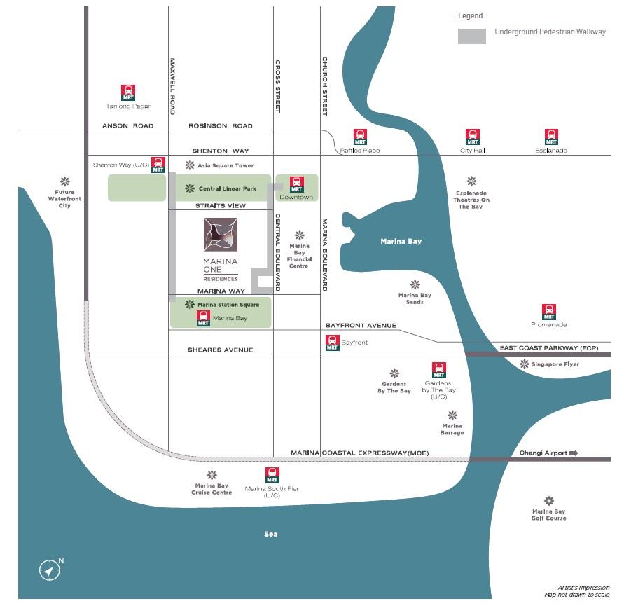 Marina One Residences Location