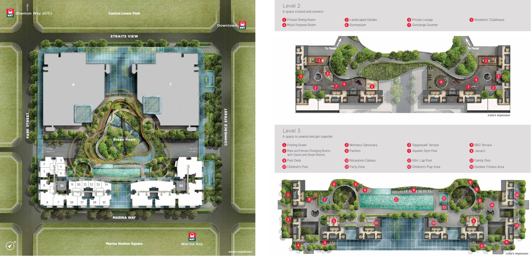 Marina One Residences Site Plan