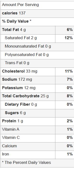 Paleo Graham Cracker Nutritional Facts