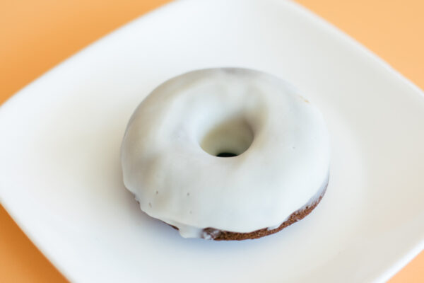 Paleo Chocolate Donuts with Vanilla Glaze