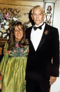 Mary Eshbaugh Hayes and her husband Jim Hayes at a Les Dames party, circa 1990.