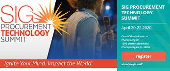 SIG Procurement Technology Summit 2020