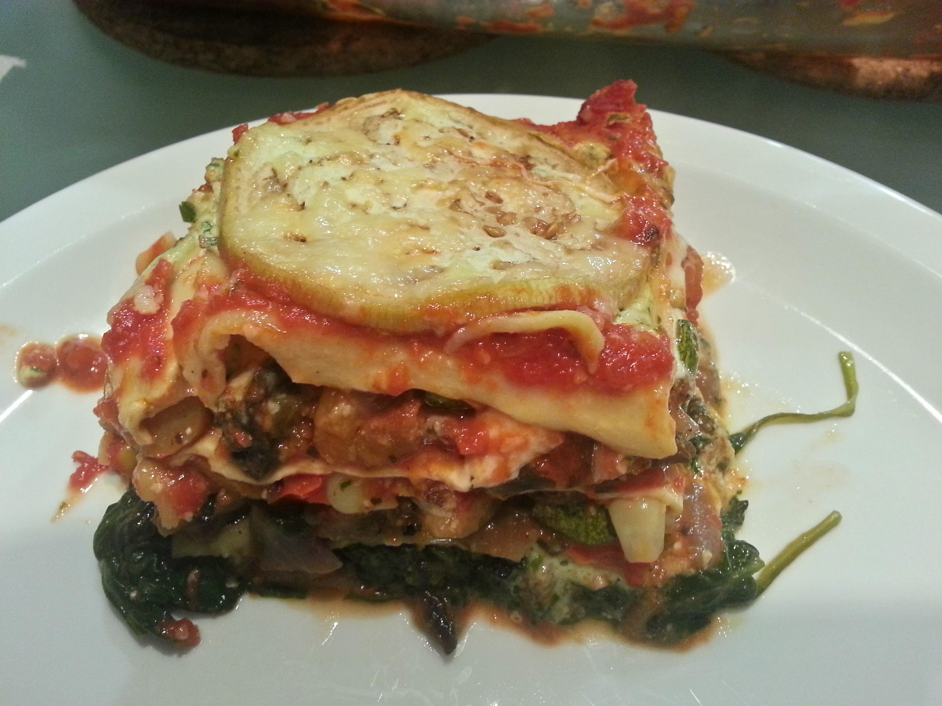 Roasted veggie lasagna