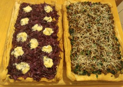Red cabbage and minced lamb tarts