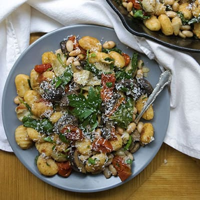 Gnocchi with Mushrooms and Artichokes