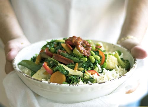 Super Food Stir Fry Vegetables is a versicle healthy dinner recipe. This is a vegan recipe but you could add tofu, shrimp, or chicken to add some protein. Serve them over brown rice or quinoa for a complete meal.