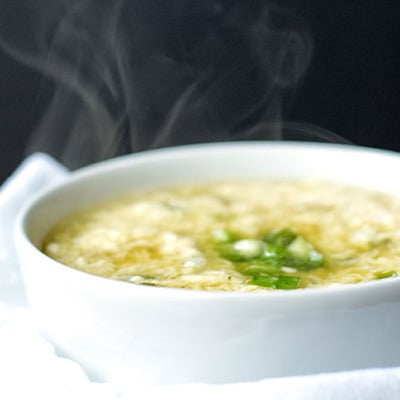 Healing Egg Drop Soup is an easy weeknight recipe for when you're feeling under the weather. | The Hungry Waitress