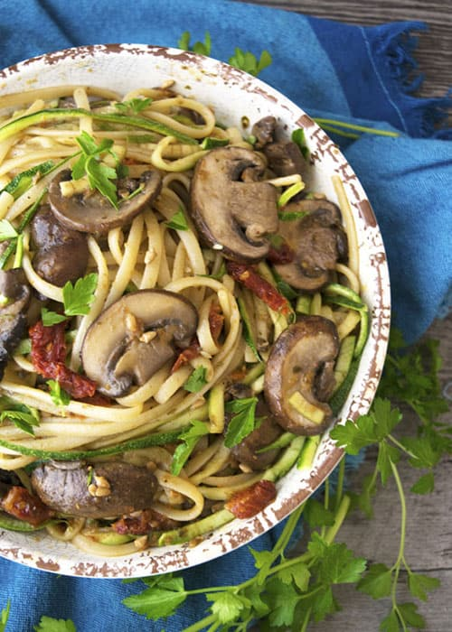 This is a quick vegan weeknight dinner recipe. This healthy recipe is hearty you won't even realize it's vegan.