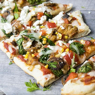Grilled Vegetable Pizza on the Grill!