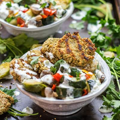 Protein Packed Falafel Bowls
