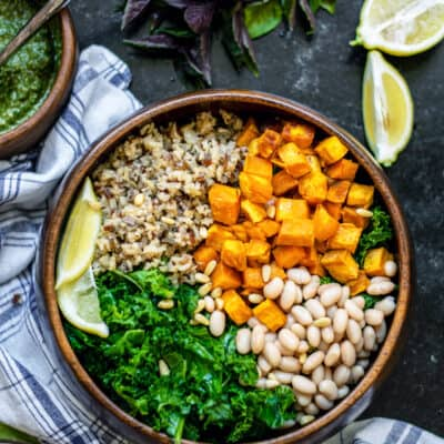 Vegan Sweet Potato and White Bean Bowl