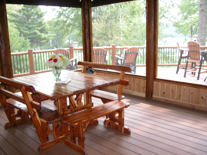 Use as a summer dining room for food prepared in the kitchen or off the patio grill.