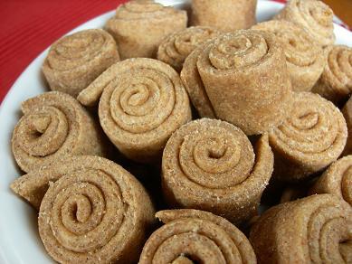 Peanut Butter Cinnamon Roll Dog Treats