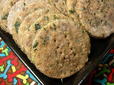 lamb and spinach dog treats