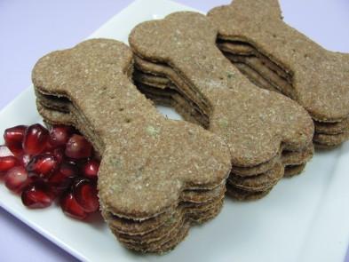 Pomegranate Mint Chicken Biscuit DoggyDessertChef.com