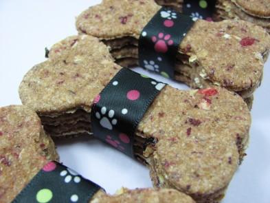 Cranberry Oatmeal Dog Biscuit DoggyDessertChef.com