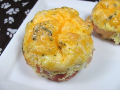bacon egg cups dog treat/biscuit recipe