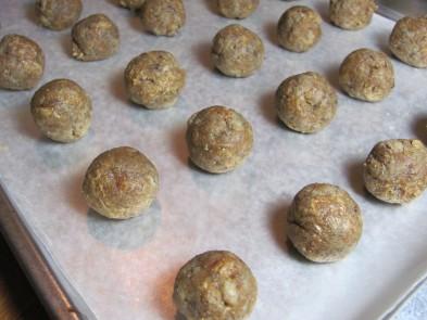 Peanut Butter Banana Cake Balls Dog Treat/Bicuit Recipe