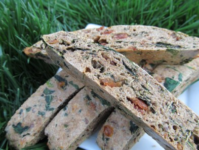 bacon spinach biscotti dog treat/biscuit recipe