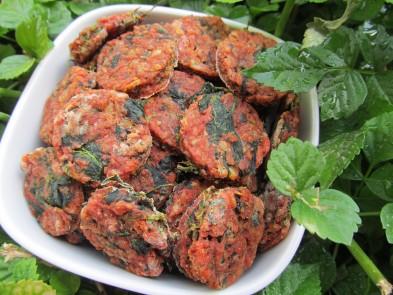 (grain and gluten-free) tomato spinach dog treat/biscuit recipe