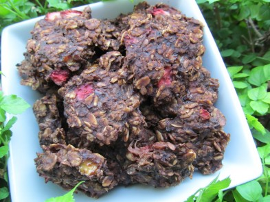 (wheat and gluten-free) strawberry carob oats dog treat/biscuit recipe