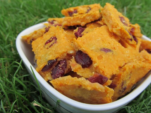 While you're out doing your food shopping make sure to grab and extra sweet potato and some dried cranberries so you can whip up these tasty gluten-free treats.