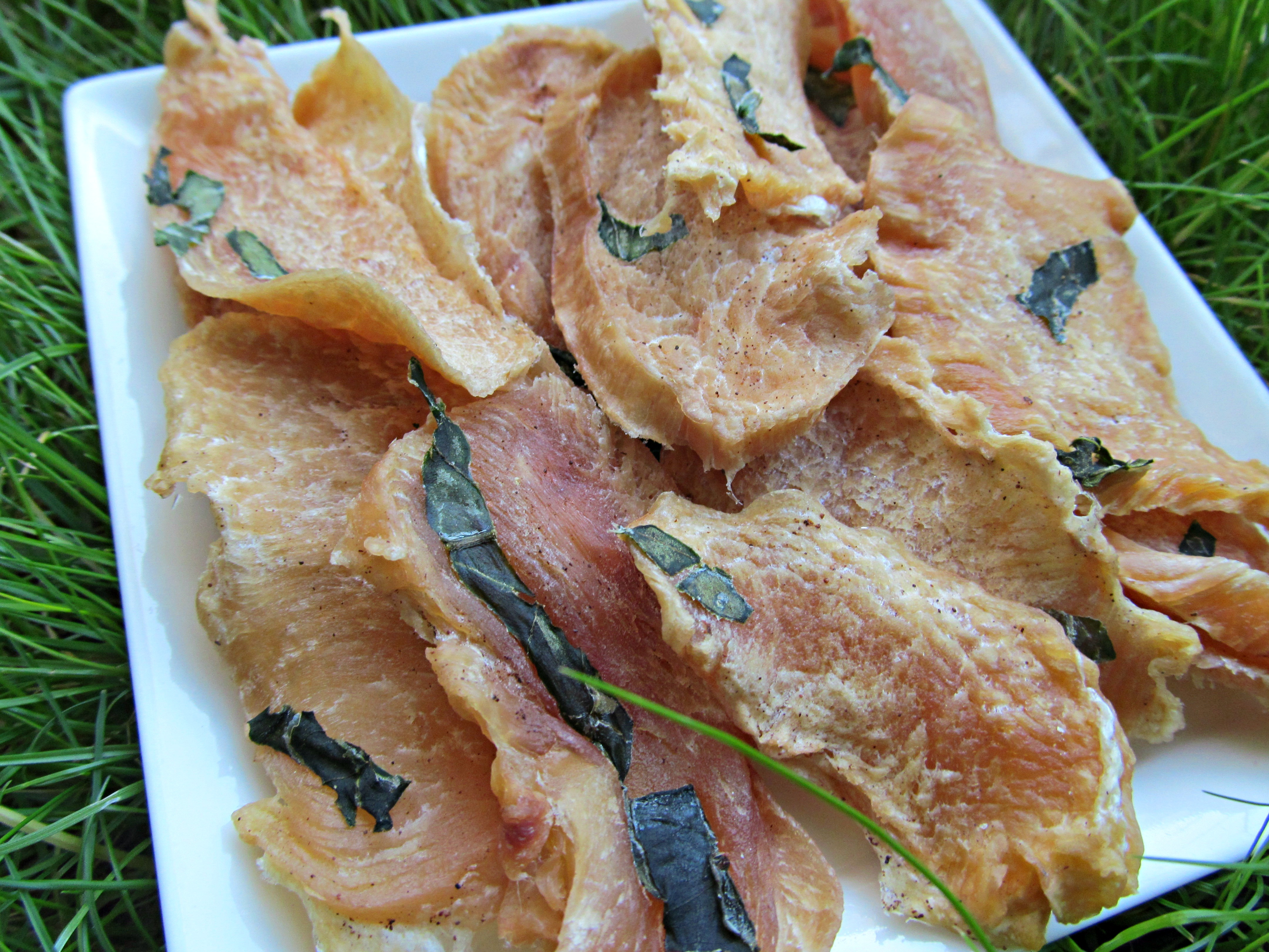 basil coconut chicken jerky dog treat recipe