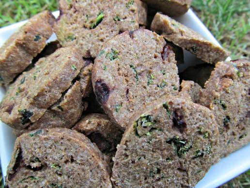 (dairy-free) cherry kale turkey dog treat/biscuit recipe