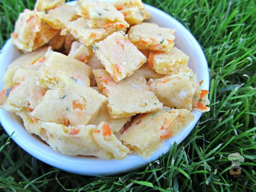 (gluten and wheat-free, vegetarian) cheese, carrot & parsley dog treat/biscuit recipe