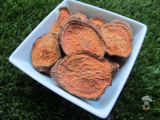 (vegan, vegetarian, wheat, grain, gluten and dairy-free) candied yam chews dog treat recipe