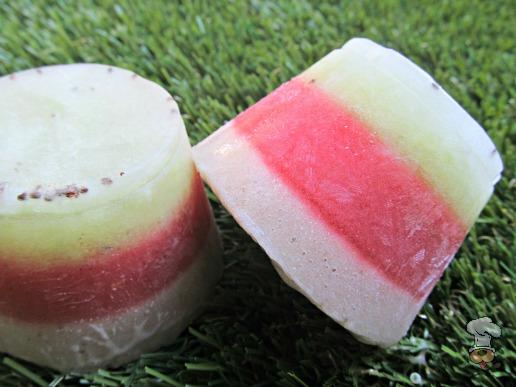 (wheat, grain, gluten and dairy-free, vegan, vegetarian) kiwi strawberry banana ice dog treat recipe