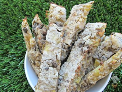 (wheat, gluten and dairy-free) pineapple coconut liver biscotti dog treat/biscuit recipe