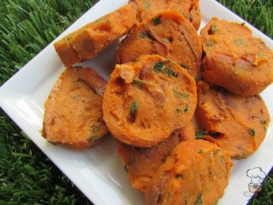 (wheat and dairy-free, vegan, vegetarian) lime cilantro sweet potato dog treat/biscuit recipe
