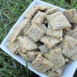 (wheat, gluten, dairy-free, vegan, vegetarian) flax seed zucchini banana dog treat biscuit recipe