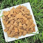 (wheat and dairy-free, vegan, vegetarian) peanut butter apple cinnamon dog treat/biscuit recipe