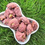 (wheat and dairy-free, vegan, vegetarian) banana beet dog treat/biscuit recipe
