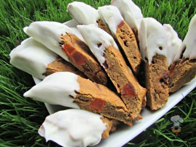 (wheat and gluten-free) yogurt dipped fruitcake biscotti dog treat recipe