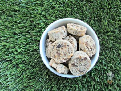(wheat and gluten-free)  cheesy chicken liver dog treat/biscuit recipe